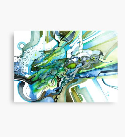 Approaching Eleven Percent From Behind  - Watercolor Painting Canvas Print