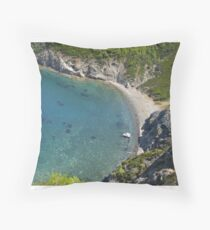 Griechische Bucht Throw Pillow