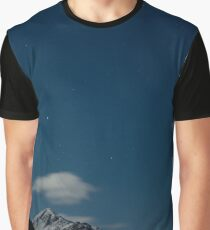 Snowy Mountains Under the Stars Graphic T-Shirt