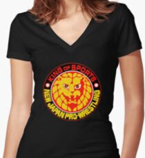 NJPW New Japan Pro Wrestling Women's Fitted V-Neck T-Shirt
