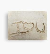 Beachy Love Canvas Print
