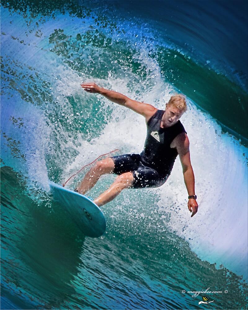 Surfs up at redhead beach three by Maggiebee