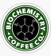Biochemistry Coffee Co. (Koffeinmolekül) Sticker