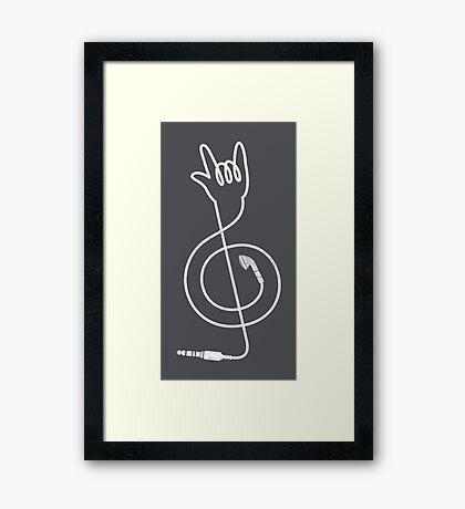 Rock Music Unplugged Framed Print