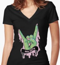 'Hail Lilith' - Rotten Dollies Women's Fitted V-Neck T-Shirt