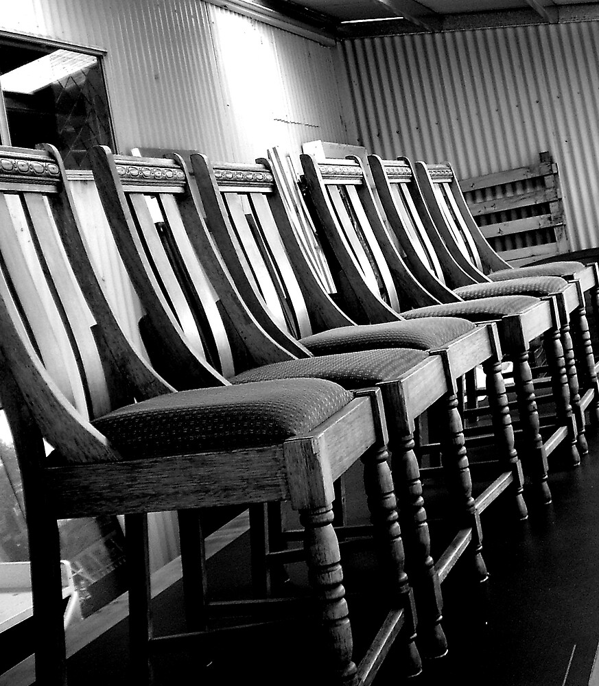 """Chairs. . . "" by lurline"