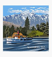 Queenstown, Remarkables and Earnslaw, NZ Photographic Print