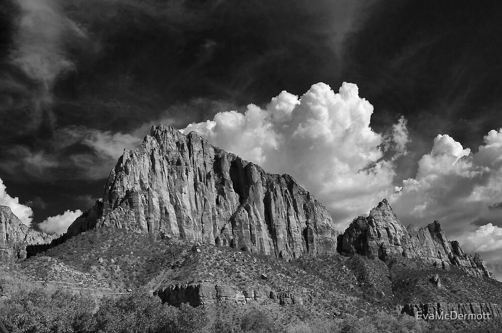 Thunderhead Zion B&W by EvaMcDermott