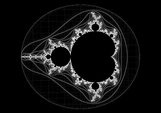 White - Linear Mandelbrot by Rupert Russell