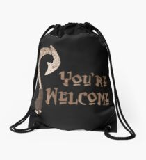 Magical Fish Hook - You're Welcome! Drawstring Bag