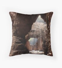 Doors of the Valley Throw Pillow