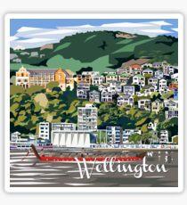 Wellington Harbour by Ira Mitchell-Kirk Sticker