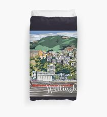 Wellington Harbour by Ira Mitchell-Kirk Duvet Cover