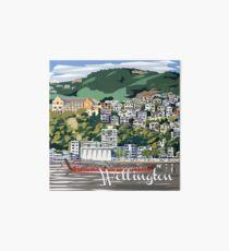 Wellington Harbour by Ira Mitchell-Kirk Art Board