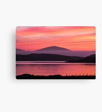 Breasclete Red sunset  Canvas Print