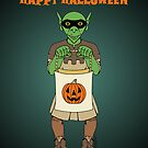 Goblin Happy Halloween by Richard Fay