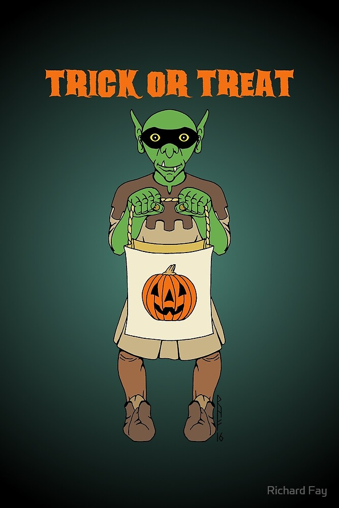 Goblin Trick or Treat by Richard Fay