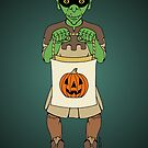 Trick-or-Treating Goblin by Richard Fay