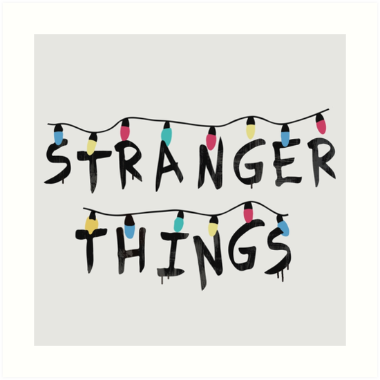Quot Stranger Things Fairy Lights Quot Art Print By Monkey