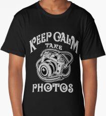 Photographer Gift - Keep Calm Take Photos Long T-Shirt
