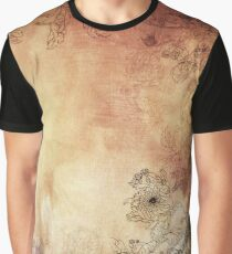 Flowers Painted And Textured  Graphic T-Shirt