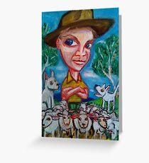 Bringing in the Sheep Greeting Card