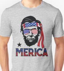 Merica - Funny Abe Lincoln 4th of July Hip American T-shirt Unisex T-Shirt