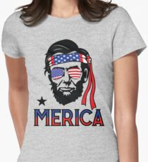 Merica - Funny Abe Lincoln 4th of July Hip American T-shirt T-Shirt