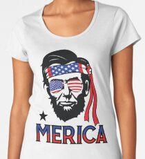 Merica - Funny Abe Lincoln 4th of July Hip American T-shirt Women's Premium T-Shirt