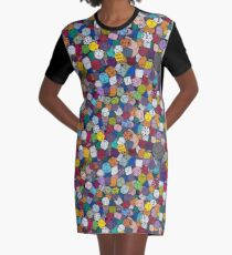 Gamer Dice Graphic T-Shirt Dress