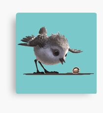 Water-colored Brushed Sandpiper Canvas Print