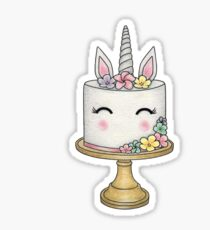 Unicorn cake Sticker