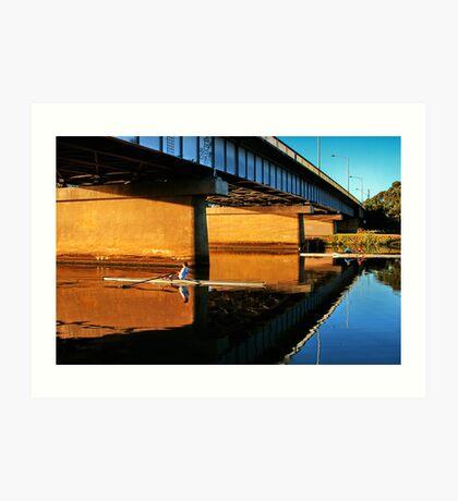 """Moorabool Street Bridge"" Art Print"
