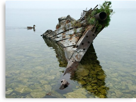 Tobermory shipwreck by Peter Zentjens