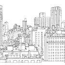 Manhattan Strichzeichnung von chailyn