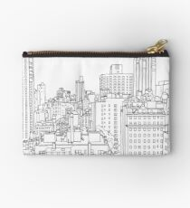 Manhattan Line Drawing Studio Pouch