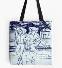 Riverside Romance Tote Bag