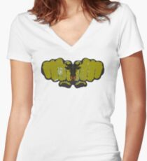 Uri! Women's Fitted V-Neck T-Shirt