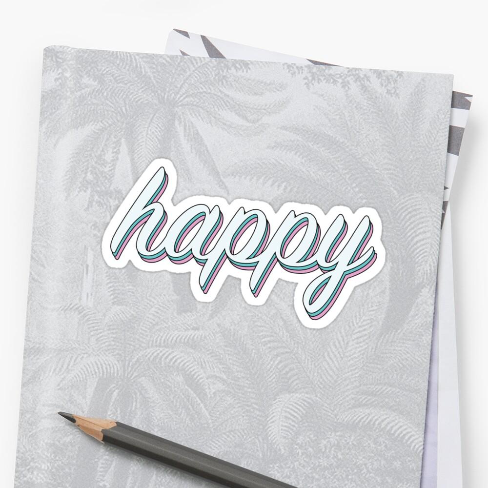 fröhlicher Pastell Sticker