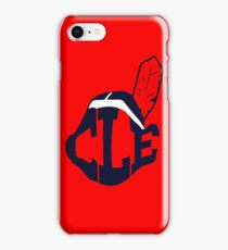 CLE-Wahoo Cleveland Indians  iPhone Case/Skin