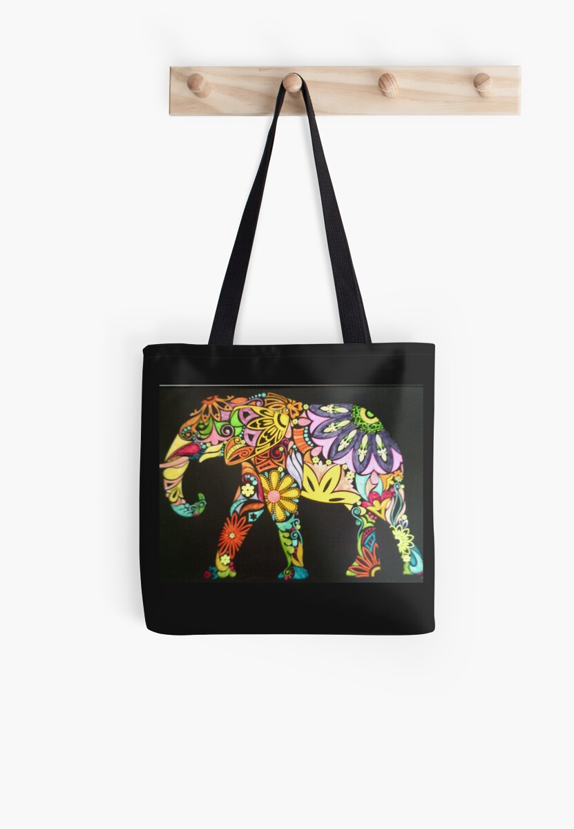 Flower power elephant by Veganarts