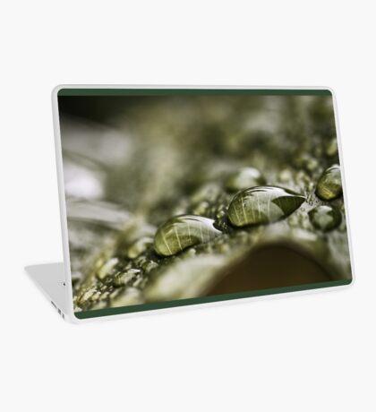 Regentropfen auf einem Blatt Laptop Folie