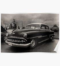 1954 Desoto Powermaster - B&W Poster
