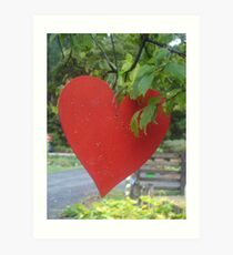Thank You Heart to all my friends on Red Bubble - I exceeded 10,000 views! Art Print