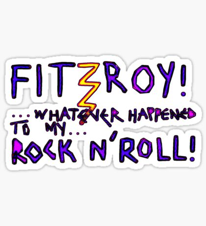 'Fitzroy Mock n' Roll' Sticker