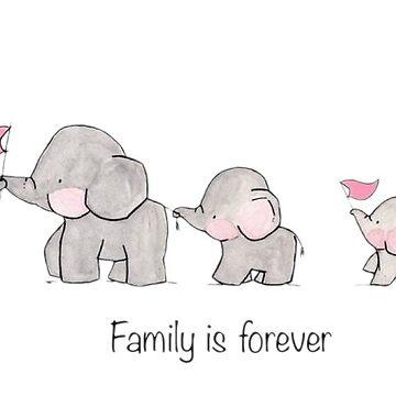 Elephant family  by Akar14