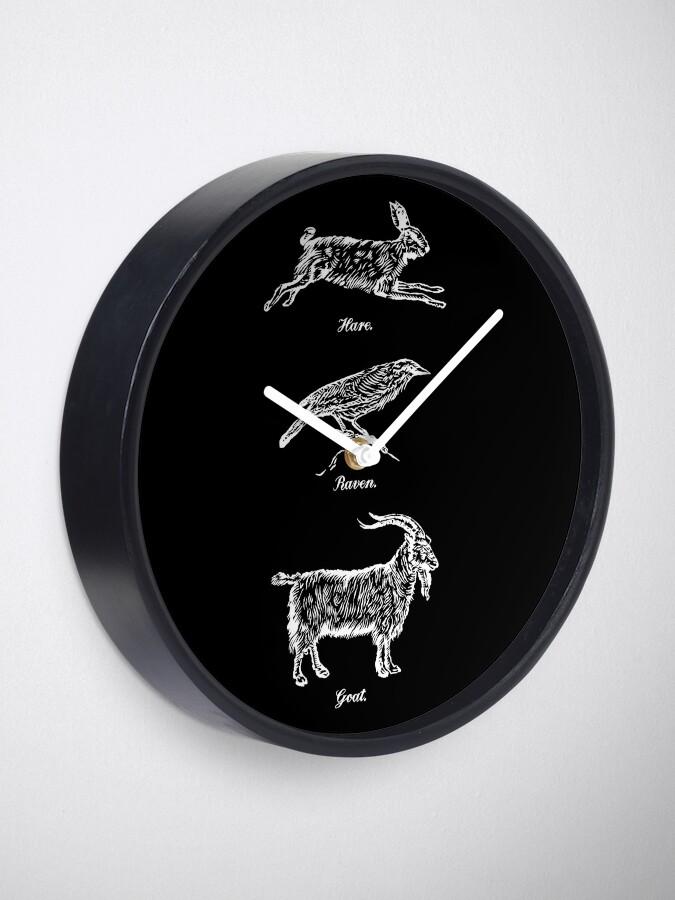 Alternate view of Hare, Raven, Goat Clock