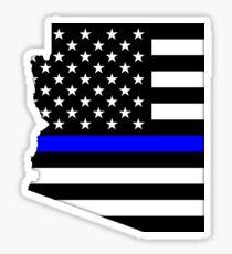 Arizona - dünne blaue Linie Sticker