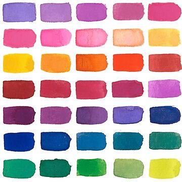 Patrón de acuarela del arco iris de skinnyginny