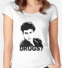 Drugs? Women's Fitted Scoop T-Shirt